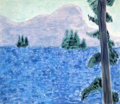 "lawrenceleemagnuson: "" Milton Avery (American, 1885-1965), Mountain Lake, 1960. Oil on canvas, 152 x 173 cm. """