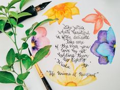 """A piece from the poetry book """"The Universe at Heartbeat"""" by Nicola An Book is available on major online book sellers Calligraphy and watercolor art painting botanical, floral Watercolor Art Paintings, Poetry Books, Creative Words, In A Heartbeat, The Borrowers, Books Online, Poems, Universe, Delicate"""