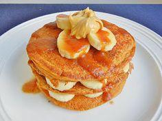 Healthy pumpkin pancakes made with greek yogurt and whole wheat flour