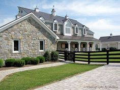 Image result for big house with stable under