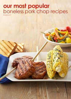 Check out our delicious recpes for juicy, tender boneless pork chops.