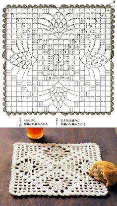 Crochet Table Runner Pattern, Free Crochet Doily Patterns, Free Crochet Square, Crochet Doily Diagram, Crochet Pillow Pattern, Crochet Bedspread, Granny Square Crochet Pattern, Crochet Tablecloth, Crochet Squares