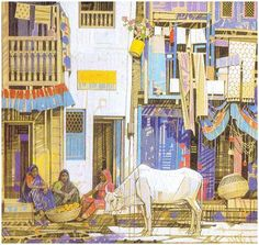 ravi paranjape paintings - Google Search Indian Illustration, Line Illustration, Classic Paintings, Indian Paintings, Contemporary Paintings, Indian Art, Watercolour Tutorials, Watercolor, Fine Art