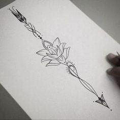 dibujos de flor de loto para tatuajes facil