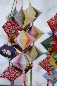 The Art of Paper Folding, Origami / Tokyo Pic Diy Origami, Mobil Origami, Origami Paper Folding, Origami Mobile, Origami And Kirigami, Christmas Origami, Useful Origami, Origami Tutorial, Origami Garland
