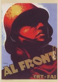 Carles Fontsere classic Republican poster for the Spanish Civil War, in Catalan