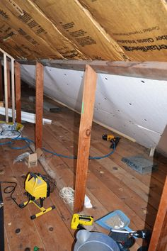 We made a little progress on the attic remodel/finishing this weekend. It's such a HUGE project, so sometimes it seems like we're not getti...