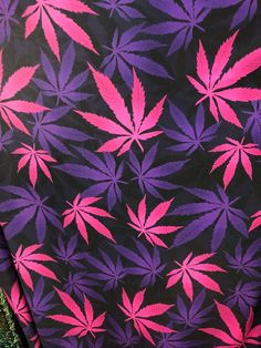 Purple Pink Mix All over marihuana leafs on poly spandex fabric sold by the yard Cannabis Wallpaper, Weed Wallpaper, Aesthetic Iphone Wallpaper, Aesthetic Wallpapers, Weed Backgrounds, Wallpaper Backgrounds, Stoner Art, Dope Wallpapers, Phone Wallpapers