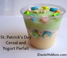 {St.Patrick's Day} Yogurt and Cereal Parfait - JDaniel4s Mom