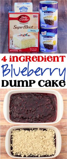 Ingredients) - Never Ending Journeys Easy Blueberry Dump Cake Recipe! Ingredients) - Never Ending Journeys Blueberry Dump Cake Recipe! This easy cobbler dessert is such a yummy addition to your menu! Tastemade Dessert, Quick Dessert Recipes, Dump Cake Recipes, Frosting Recipes, Dessert Simple, Blueberry Dump Cakes, Strawberry Dump Cakes, Easy Blueberry Desserts, Blueberry Recipes