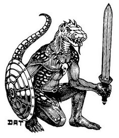 "1st Edition Trampier  Dungeons /& Dragons AD/&D Lizardman 1/"" pin button"