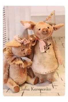 pig Basia by By Elena Karasenko   Bear Pile