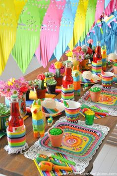 Cinco De Mayo Fiesta by & Cinco de Mayo Tablescape ~ Create a south-of-the-border setting for ...
