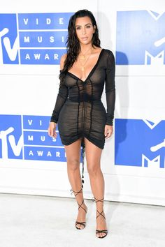 Kim Kardashian West attends the 2016 MTV Video Music Awards at Madison Square…