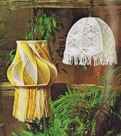 Vintage Macrame Patterns Hanging Lamps & Lamp Shade Designs Ten Macramé Pattern Designs will want to make at least one or maybe several lamp projects. Macramé Lamps and Lamp Shades makes for a variety of home decorating ideas or gift ideas PDF patterns ready for instant download.. • Lamp Frames • Rays of Light • Swirls • Reflection • Ups & Downs • Light and Lacy • Classically Light • Evening Flowers • Wicker Wonder • Knots & Techniques Special Note: I feel that choosing cords...