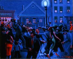 Gettin' Religion by Jazz Age Modernist Archibald Motley (1891-1981) - Whitney Museum of American Art, Oct 1, 2015 - Jan 1, 2016