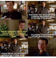 Adorable! Add this to the ever-growing list of things that I would watch Kurt & Blaine do for 40 minutes, no questions asked. Also, can I volunteer to follow them around with mistletoe? You know, for science reasons, of course...
