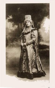 Princess Maria Pavlovna Chavchavadze (1876-1958), wearing a boyarina costume at the Winter Palace Costume Ball of 1903.