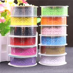 12PCS Candy Colors Lace Tape Decoration Roll DIY Washi Decorative Sticky Paper Masking Tape Self Adhesive Tape Scrapbook Tape #>=#>=#>=#>=#> Click on the pin to check out discount price, color, size, shipping, etc. Save and like it!