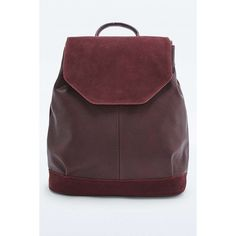 Urban Outfitters Burgundy Suede Angular Backpack ($72) ❤ liked on Polyvore featuring bags, backpacks, maroon, urban outfitters bag, flap backpack, knapsack bags, urban outfitters backpack and day pack backpack