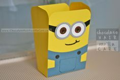 Crafts: How To DIY Homemade Despicable Me Minion Popcorn Boxes (with Optional Water Bottle Hanger) : DIY Minions DIY Crafts