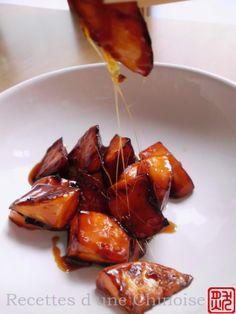 Recette d'une chinoise - Patate douce au caramel chaud filant