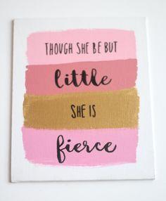 Though She Be But Little Wall Art Nursery by CambridgeCityLimits