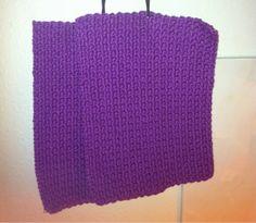 by GJ: Hæklede grydelapper - i lilla! - Crochet potholders