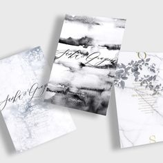 Design Your Own Wedding Invitation Suite or Save the Date / Choose from 100s of Options from our Carefully Curated + Designed Gallery / Modern / Unique / Luxury / Paint / Watercolor / Black + White / Marble / Vineyard / Vines / Leaves / Blue / Serenity / Pantone 2016 / Grey / Calligraphy / Letterpress / Gold + Silver Foil Stamp / Customizable / #myownblissandbone