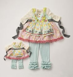 New Whimsical Matilda Jane outfit to fit 18 inch American Girl, Adora and Madame Alexander Dolls.