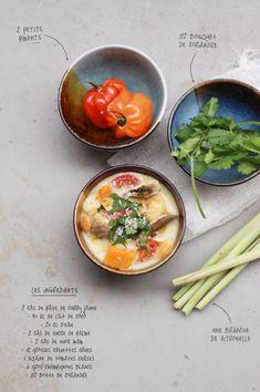 Spicy thai soup with shrimp and pumpkin / Soupe épicée aux crevettes et potiron  www.fraise-basilic.com
