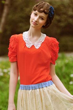 Pleated Zipped Chiffon Blouse with Pearl Embellished Collar.  i absolutley love this!