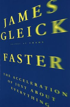 Chip Kidd Book Cover - James Gleick FASTER The Acceleration of Just About Everything Book
