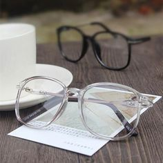 e037a46088f9 Fashion Retro Square Eyeglasses Eyewear Frames Women Men Computer  Transparent Clear Lensdresskily Big Glasses Frames,