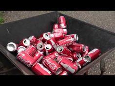 Homemade aluminum can Baler - YouTube
