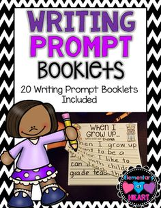 These Monthly Writing Prompt Booklets are FUN and EASY to make.Students will LOVE writing these basic writing prompts and turning them into booklets too! Great for: Writing CenterIndependent Writing TimeBulletin BoardsWrite & Share Writing Prompt Booklets Included: All About MeMy Favorite FoodMy Favorite SportMy BirthdayWhen I Grow UpAll About SchoolMy FriendsMy Favorite BookAll About HalloweenI Wish I Had a PetAll About My FamilyIm Thankful ForMy Thanksgiving StoryMy Fall StoryMy Holiday...