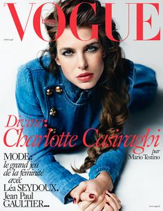 Vogue Paris April 2015 : Charlotte Casiraghi by Mario Testino - the Fashion Spot Vogue Covers, Vogue Magazine Covers, Fashion Magazine Cover, Fashion Cover, Mario Testino, Charlotte Casiraghi, Vogue Paris, The Blonde Salad, Top Models