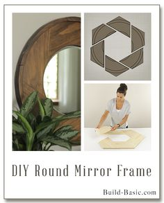 Build a DIY Round Mirror Frame - Building Plans by @BuildBasic www.build-basic.com