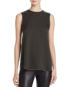 Theory Melana Sleeveless Silk Top
