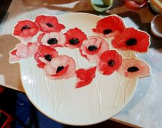 Cherry Red Poppies! https://www.etsy.com/listing/278528368/cherry-red-poppies-ceramic-watercolor?ref=shop_home_active_3