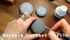 DIY: WATCH ME PAINT -- MagaMerlina:  YouTube video on drawing Mandala designs (Mendhi-inspired) on rocks/pebbles.