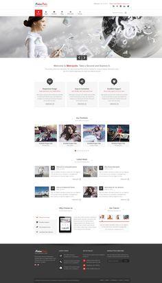 Metropolis - Clean Multipurpose Theme HTML Version by ~pixel-industry on deviantART
