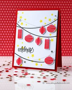 Chinese New Year card by Wanda Guess. Stamps from Avery Elle