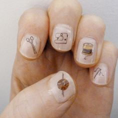 craft nail transfers by katebroughton on Etsy, £2.95...These are funny. I know someone who would like these...Kristen that's you