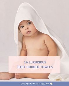 16 best baby hooded towels | Mum's Grapevine. This checklist includes baby essentials for bathtime. #hoodedtowel #babyessentials #babygear #babylist #babychecklists #roundups #mumsgrapevine | mumsgrapevine.com.au Baby Essential List, Towel Apron, Flying With A Baby, Hooded Towels, Baby Checklist, Towel Wrap, Baby Towel, Baby List, Terry Towel