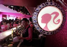 There appears to also be liquor at The World's First Barbie Restaurant! Wonder if the drinks are all pink...