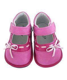 Look what I found on #zulily! Pink Stella Leather Booties #zulilyfinds