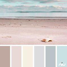 pastel beach (landscape) Color Palette - Paint Inspiration- Paint Colors- Paint Palette- Color- Design Inspiration