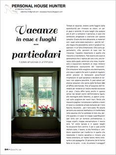CoolTo Magazine n. Luglio/Agosto 2012 -  Vacanze in case e luoghi... particolari @CoolToMagazine #magazine #case #vacanze