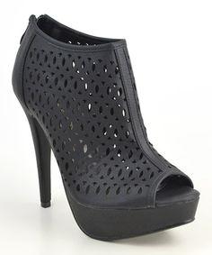 Another great find on #zulily! Black Tess Platform Pump by Elegant Footwear #zulilyfinds